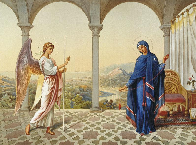 Сегодня — предпразднство Благовещения