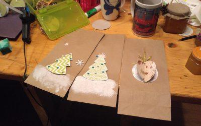 Изготовление подарочной упаковки. Как это было.