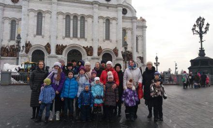 Детская литургия в храме Христа Спасителя
