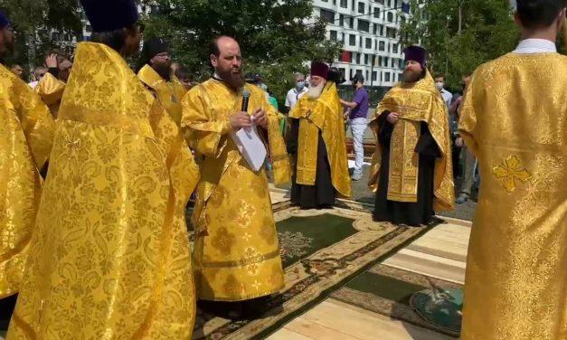 Молебен на начало строительства храма