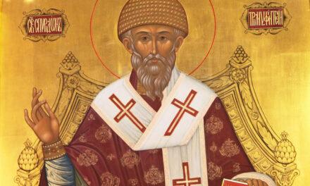 В пятницу воспоминаем святителя Спиридона Тримифунтского. Добавлена галерея.