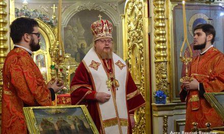 Архиерейское богослужение в день памяти свмщ. Иоанна Хрусталёва