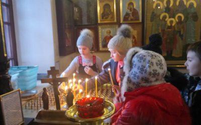 Ученики школы на экскурсии в нашем храме