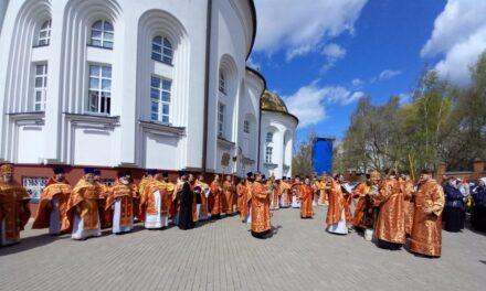 Архиерейское богослужение в храме Собора Московских Святых